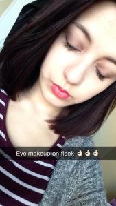snapchat post of the make up