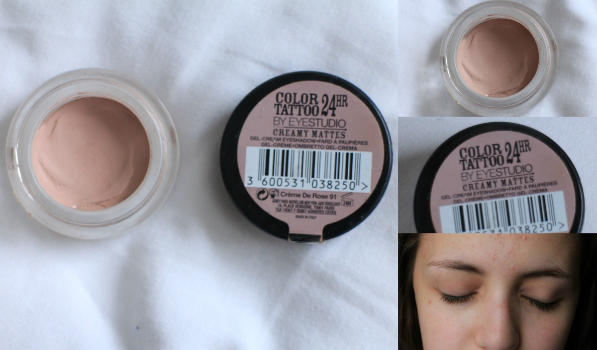 Review of the Maybelline Eye Studio Color Tattoo Eye Shadow!